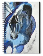 Blue Olympic Horse  Spiral Notebook