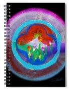 Blue On Blue On Violet Spiral Notebook