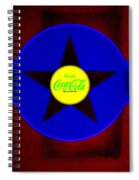 Blue On Red Spiral Notebook