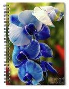 Blue Orchid Spiral Notebook