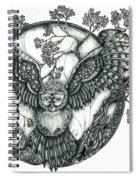 Blue Owl Spiral Notebook