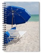 Blue Paradise Umbrella Spiral Notebook