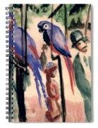 Blue Parrots Spiral Notebook
