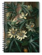 Blue Passion Flower For The  Temple Of Flora By Robert Thornton Spiral Notebook