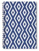 Blue Pattern Spiral Notebook
