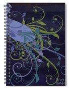 Blue Peacock Art Nouveau Spiral Notebook