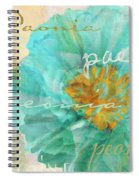 Blue Peony Spiral Notebook