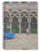 Blue Pickup In Cuba Spiral Notebook