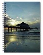 Blue Pier 60 Sunset Spiral Notebook