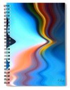 Blue Pinch Wave Spiral Notebook