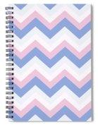 Blue Pink Chevron Pattern Spiral Notebook