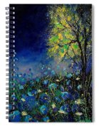 Blue Poppies And Diasies 67 Spiral Notebook