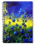 Blue Poppies Spiral Notebook