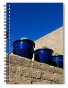Blue Pottery On Wall Spiral Notebook