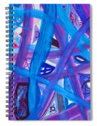 Blue Purple Paths  Spiral Notebook