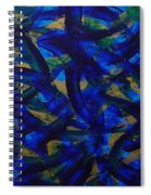 Blue Pyramid Spiral Notebook