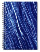 Blue Rain Abstract Spiral Notebook