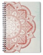 Blue Red Mandala Spiral Notebook