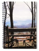 Blue Ridge Mountain Porch View Spiral Notebook