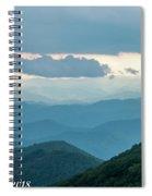 Blue Ridge Mountains View From Craggy Garden Spiral Notebook