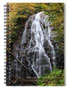 Blue Ridge Parkway Crabtree Falls In Autumn Spiral Notebook