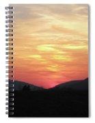 Blue Ridge Sunset Spiral Notebook