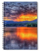 Blue Ridges Lake Junaluska Sunset Great Smoky Mountains Art Spiral Notebook