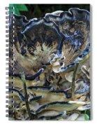 Blue Rimmed Fungus Spiral Notebook