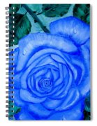 Blue Rose Spiral Notebook