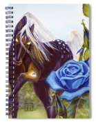 Blue Rose Unicorn Spiral Notebook