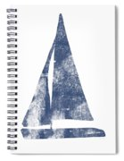 Blue Sail Boat- Art By Linda Woods Spiral Notebook