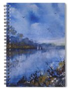Blue Sail, Watercolor Painting Spiral Notebook