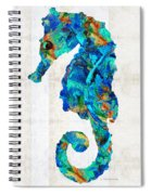 Blue Seahorse Art By Sharon Cummings Spiral Notebook