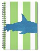 Blue Shark 2- Art By Linda Woods Spiral Notebook