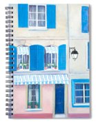 Blue Shutters Arles France Spiral Notebook