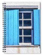 Blue Shutters Of Peniche Spiral Notebook