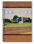 Blue Silo-marquetry Spiral Notebook