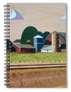 Blue Silo-marquetry-image Spiral Notebook
