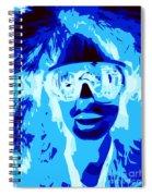 Blue Skier Bob Spiral Notebook
