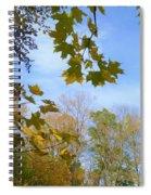 Blue Skies Ahead Spiral Notebook