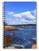 Blue Skies In Maine Spiral Notebook