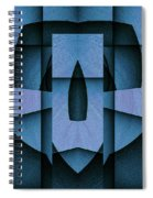 Blue Skull Spiral Notebook