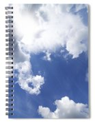Blue Sky And Cloud Spiral Notebook