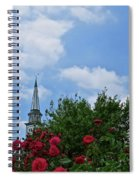 Blue Sky And Roses Spiral Notebook