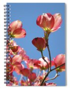 Blue Sky Art Prints Pink Dogwood Flowers 16 Dogwood Tree Art Prints Baslee Troutman Spiral Notebook