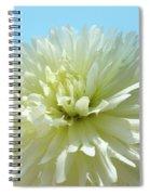 Blue Sky Art White Dahlia Flower Floral Prints Baslee Troutman Spiral Notebook