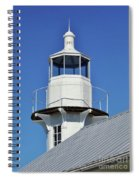 Blue Sky At The Lighthouse Spiral Notebook