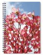 Blue Sky Clouds Landscape 7 Pink Dogwood Tree Baslee Troutman Spiral Notebook