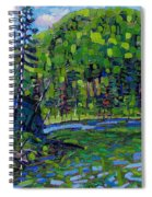 Blue Sky Greens Spiral Notebook