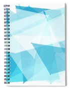 Blue Sky Polygon Pattern Spiral Notebook